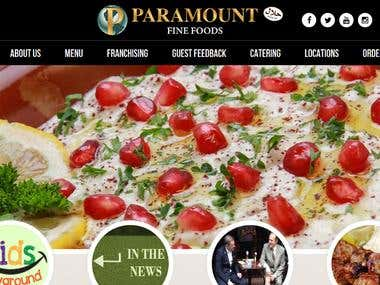 PHP Web Design and Development - Paramount Foods