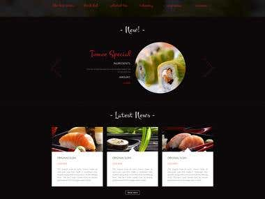 Sushi Bar Psd Template