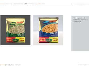Nobo promotional food packaging.