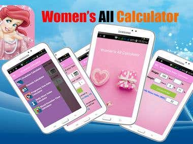 Women\'s All Calculator Android App
