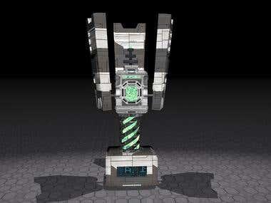 Maquina sci-fi 3d