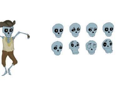 Diseño personaje esqueleto