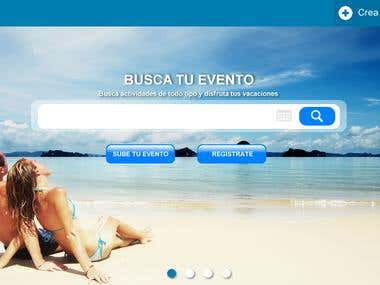 Diseño portal de actividades
