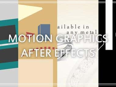 MOTION GRAPHICS & AFTER EFFECTS