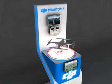 Drone Display Kiosk Desgn Contest Won On Freelancer.com