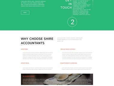 Website mockup for shire accountants