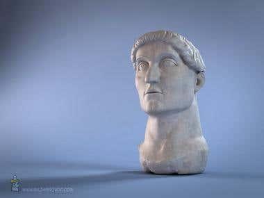 Emperor Constantine Head