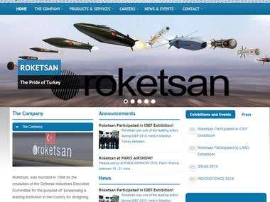 Roketsan Website