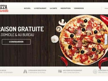 Pizza Web site with Online order