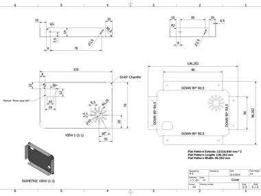 Sheet metal part drawing with bend development