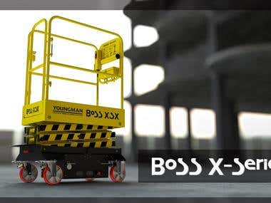 3D product stills For Boss X series
