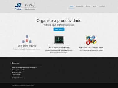 Site da Empresa ProtSig