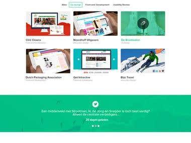 Responsive Parallax Wordpress Agency Website