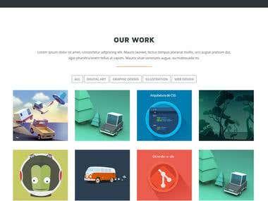 Mobile App Showcasing Responsive Modern Website in Wordpress
