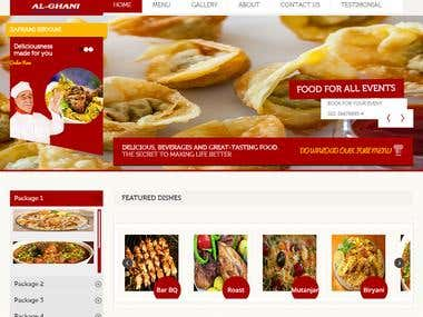 Online Caterers Website