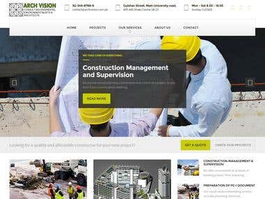 Construction Website :: Arch Vision
