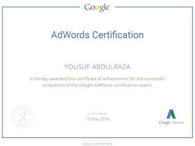 Google Adwords Search Network Certification