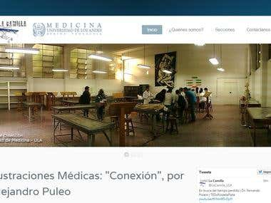 "Joomla website ""La Camilla\"""