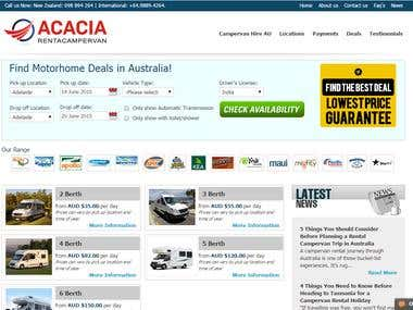 Australia Campervan Rentals - Ecommerce