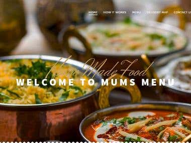 mums menu - wordpress website