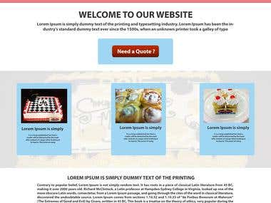 One Page PSD Web Template