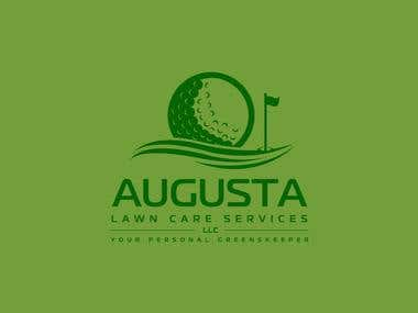 Winning logo for Augusta Lawn care
