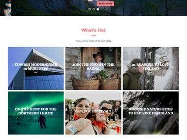 Visitfinland is a travel website