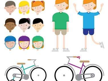 Cycling Program Character Design