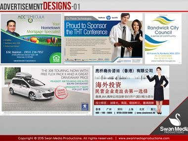 Newspaper & Magazine Advertisement Design
