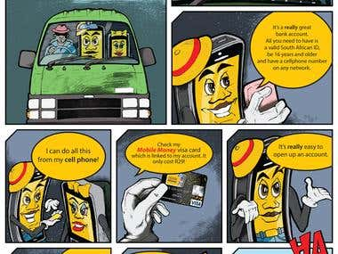Mobile Money Comic Strip !
