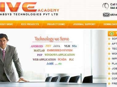 Dynamic Content Based Website for a Training Institute