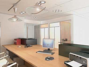 Office Interior of Reception Area