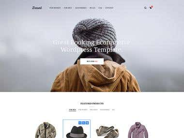 E-Commerce Wordpress Template