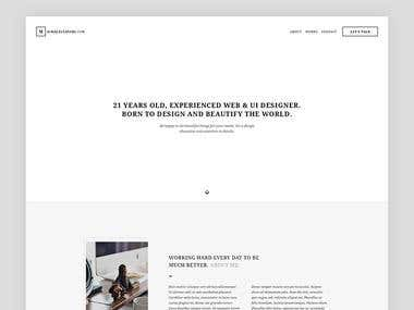 Design Concept of My New Website
