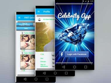 Celebrity App - Graphic Design