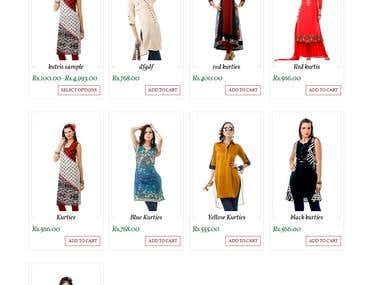 Ecommerce Clothing site