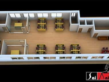3D FLOOR PLAN(3D MODELING)