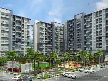 3d architectural exterior views - 4 images