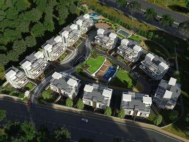 3d architectural views - 4 images