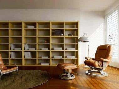 3D architectural Interior views- 4 images