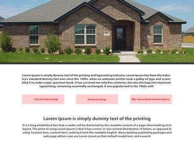 Web Homepage Design