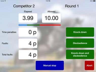 Sabia Tempo Showjumping Timer iPad App