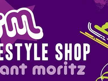 St. Moritz Group front light signs, merchandising