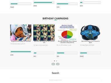 Crowd Funding Web Application - www.nachobirthday.com