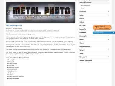 Metalphoto Supplier