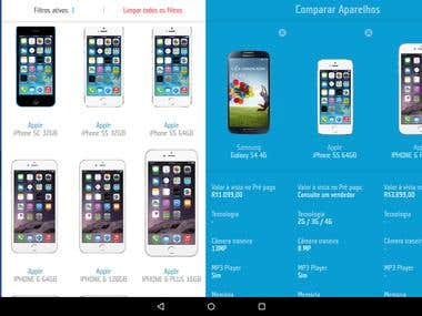 TIM phone comparison for Android