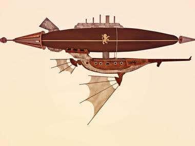 Nave - airship steampunk