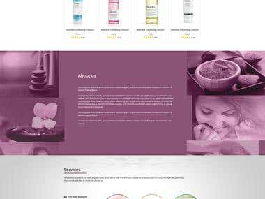 Murad.com spa affiliates micro website design