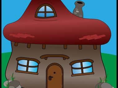 Vector House Cartoon