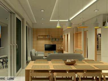 Interior Design Concept for Beach Apartments in Hawaii.